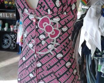 Pink Hello Kitty Hoodie Halter