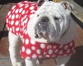 English Bulldog Reversible Coat,Fleece,Nordic, Polar bears, winter dog coat, Ski wear, winter coat, English bulldogs, Bulldog coat, dog coat