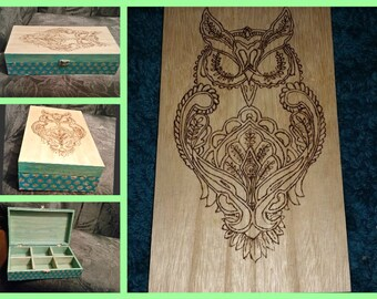 Tea Box. Owl
