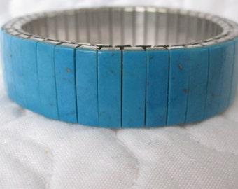 vintage accordian, turquoise bracelet