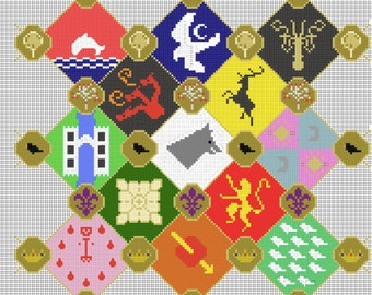 Game Of Thrones Sigils Cross Stitch Chart Download