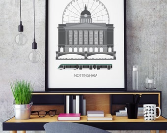 Nottingham city print