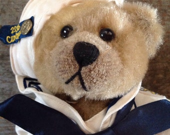 "Vintage Brass Button Bears Casey 1940's Sailor Bear 11"""