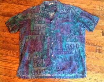 Vintage Men's Lauhala Made in Hawaii Hawaiian Shirt