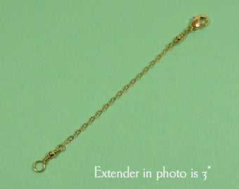 2 Inch Necklace Extender - Gold Plated