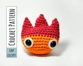 PATTERN - Calcifer Crochet Fire Demon Amigurumi