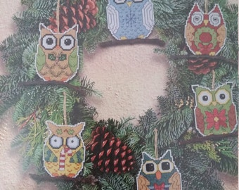 Owl Ornaments Cross stitch Kit