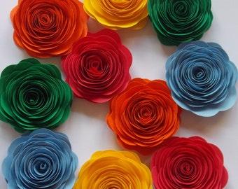 Paper flowers, wedding flowers, paper roses, eco wedding flowers