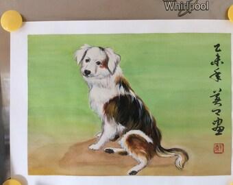 Original Watercolour Painting-Dog