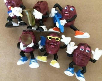 Set of 6 Musician California Raisins