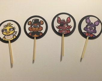 24 FNAF Five Nights at Freddy's Cupcake Toppers