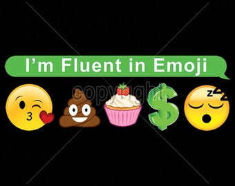 Womens TANK TOP Shirt Im Fluent in Emoji  Choose Size and Color 18517