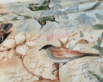 Spring Napkins | Elegant Napkins | Fabric Napkins | Summer Spring | Easter Dinner Napkins | Dinner | Lunch | Bird Napkins