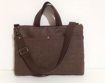 SALE-Macbook or Laptop bag with front pocket and detachable shoulder strap -Ready to ship