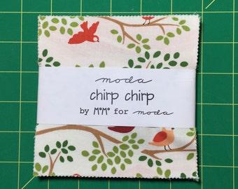 SALE : Chirp Chirp charm pack MoMo moda fabrics OOP HTF