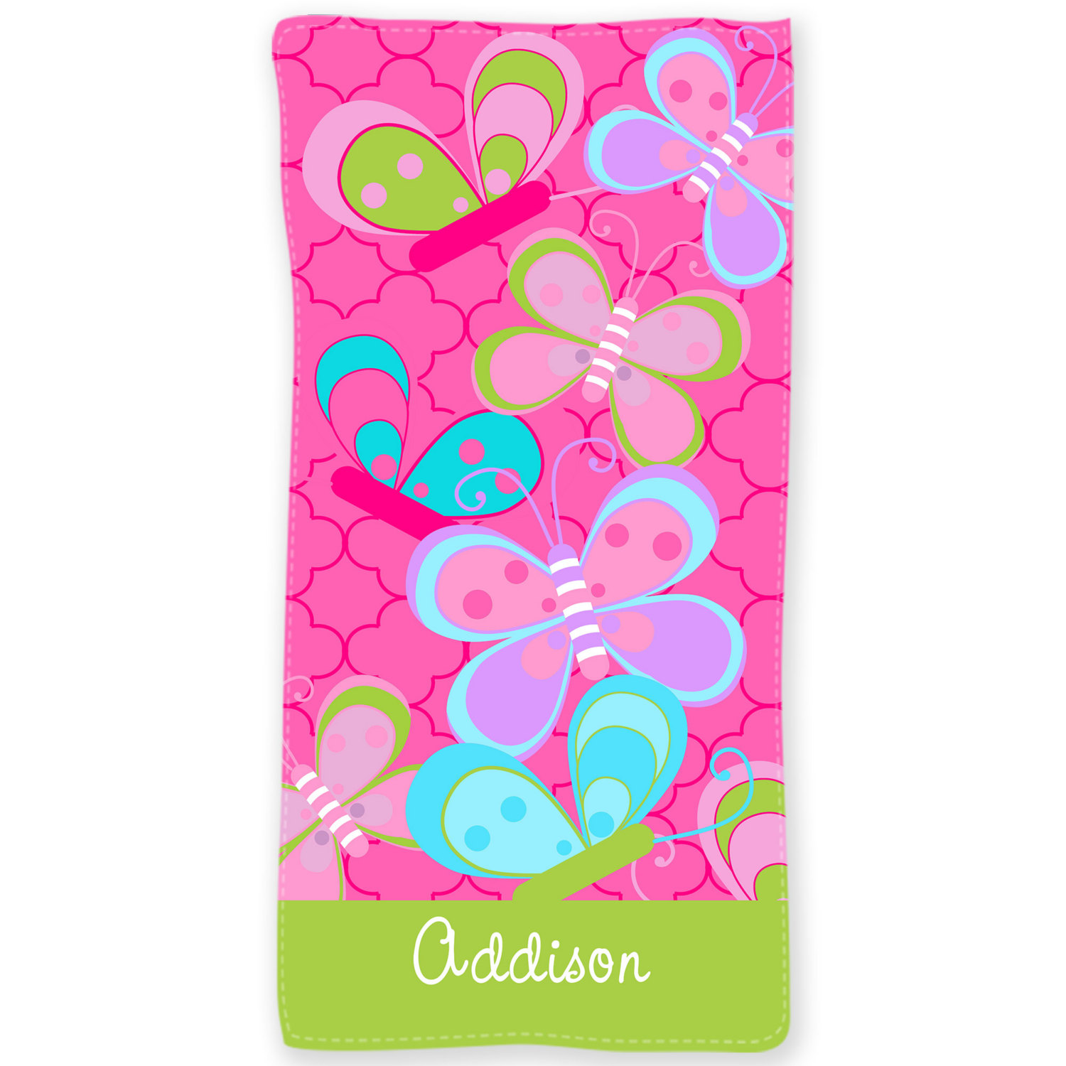Personalized Beach Towel For Toddler: Butterfly Personalized Kids Beach Towel Personalized Bath Or