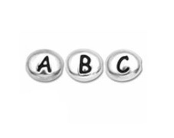 Silver Add On Initial Bead Charm