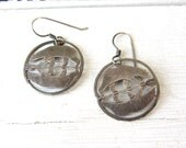 Vintage Wild Byrde Sterling Silver Bear Earrings