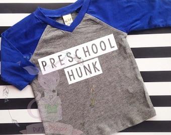Back to School Shirt Prescchool Hunk Kindergarten 1st Grade 2nd Grade 3rd Grade Boys Back to School Shirt custom school shirt
