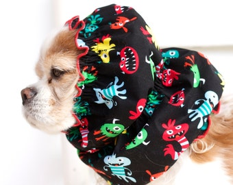 Little Monsters Dog Snood, Stay-Put 3 Rows Elastic Thread, Cavalier King Charles or Cocker Snood