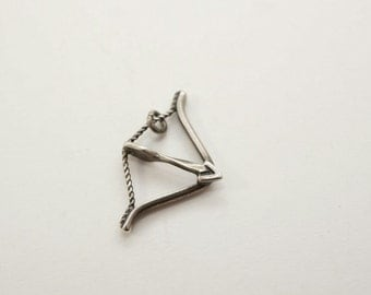 Vintage Sterling Bow and Arrow Archery Charm