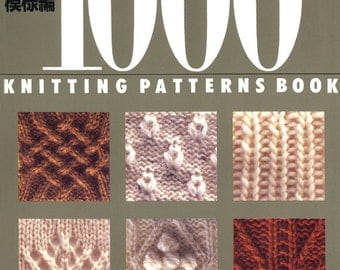 1000 KNITTING PATTERNS BOOK Japanese Craft Book