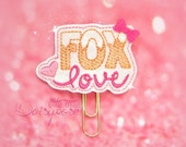 Fox Love Glitter Paperclip