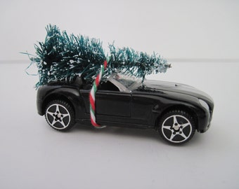 2004 FORD SHELBY Cobra Concept Convertible - Black - Christmas ORNAMENT - Christmas Tree Tied to Top