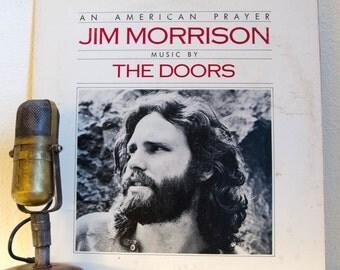 "ON SALE Jim Morrison (The Doors) Vinyl Record Album 1970s Spoken Word Poetry LP ""American Prayer"" (Scarce 1978 Rca Record Club edition w/""Aw"