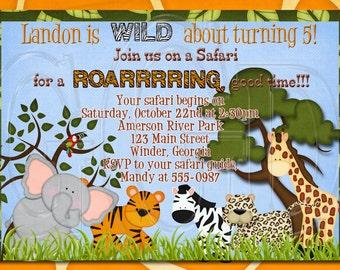 Jungle Safari Invitation BOY OR GIRL-Digtial File