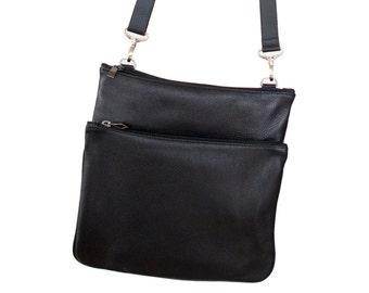 Travel bag, Day bag, Black messenger bag - The RIO