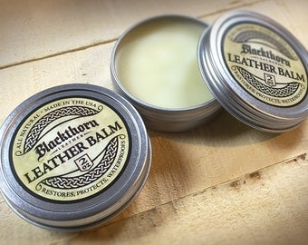 Handmade Leather Conditioner, Beeswax Leather Conditioner, Leather Oil, Leather Balm