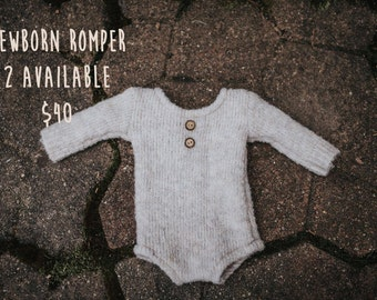 Jasper natural romper, NB size
