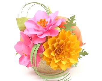 Centrepiece - home decor - Handmade Paper Flowers - Made to Order - Custom Colors