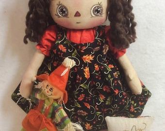 Primitive Raggedy Annie Doll - Autumn Annie