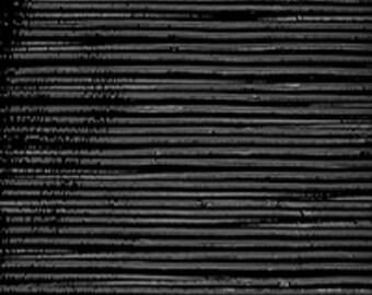 Uroboros Black Fibroid 90 COE Fusible Glass - Interesting lined texture!