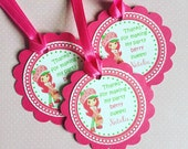 Strawberry Shortcake Party Gift Tags or Stickers