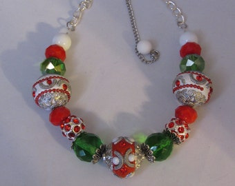 Its About Christmas Necklace/Bracet
