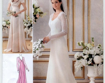 Misses' Lined Wedding and Bridesmaids Gowns Sewing Pattern - Simplicity 1909 - Sizes 6, 8, 10, 12, 14 (34-42)