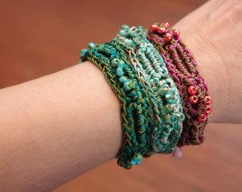 Tutorial for Jewelry, Crochet Pattern, Bead Bracelet (39)