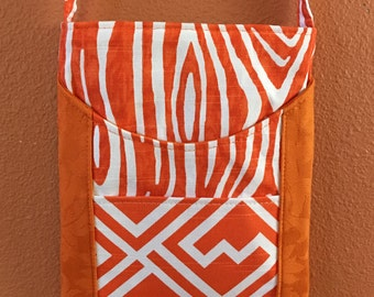 Portland 29E, Bright Orange Purse, Bag, Cross Body Bag, Cross Shoulder Purse, Shoulder Purse, Shoulder Bag, Up Cycled Fabric Bag, Small Bags