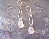 Aquamarine Gemstones and Sterling Silver Earrings, READY TO SHIP