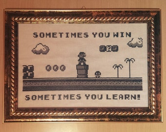 Super Mario cross stitch pattern