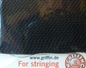 Black Silk Beading Thread with Needle Attached  -  Size 4 Griffin Pure Silk Cord