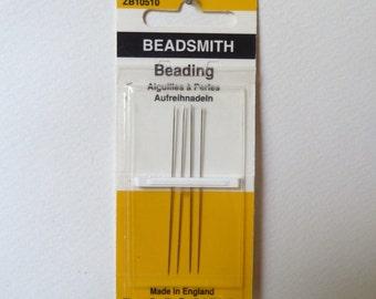 "Beadsmith English Beading Needles - Size 10 - John James Needles - High Quality ""longs"" - 1 pkg /4 needles (bn10)"