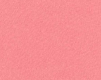 Coral Pink Washable Yarn Dyed Rayon Linen, Brussels Washer Linen Blend Collection By Robert Kaufman, 1 Yard