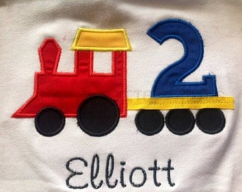 Train birthday shirt, train shirt, birthday shirt, boys shirt, girls shirt, toddler shirt, baby shirt, cake smash, choo choo shirt