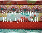 Ardently Austin, Kit 2 Rag Quilt Kit,  Super Simple to Make, Personalized, Bin A