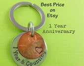 Anniversary Gift - Anniversary Gift For Men - Personalized KeyChain - Girlfriend Gift - Boyfriend Gift - Years & Counting Keychain
