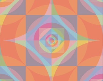 Meditative Rainbow Kaleidescope Cross Stitch Pattern